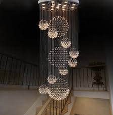 discount staircase hanging lights dia 80cm 100cm 120cm led crystal light spiral staircase lamps hanging28