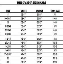 Remington Waders Size Chart Redington Sonic Pro Hdz Mens Waders