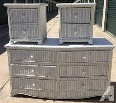white wicker dresser.  White White Wicker Bedroom Furniture Dresser And 2 On E