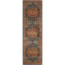 ameesha blue orange area rug evoke reviews