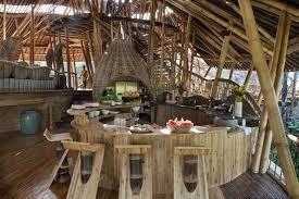 Balinese Kitchen Design Dramatic Bamboo House In Bali Idesignarch Interior Design