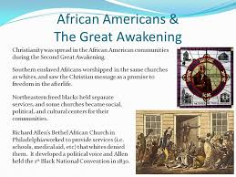short answer and essay questions african americans the great african americans the great awakening christianity was sp in the african american communities during the
