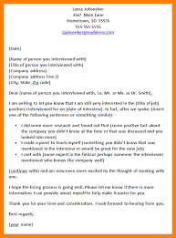 Follow Up Letters After Interview No Response Template For Note