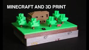 Minecraft Pictures To Print Minecraft And 3d Print Youtube