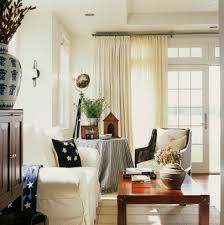Curtains with Sheers Living Room Rustic with Americana Cane Chair Curtains