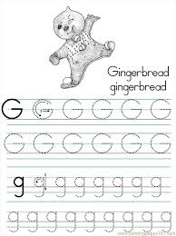 Alphabet Abc Letter G Gingerbread Coloring Pages 7 Com Coloring Page