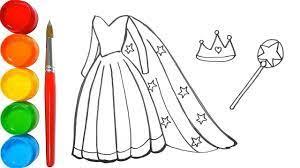 Cara menggambar gaun putri l menggambar dan mewarnai. Pelajari Cara Menggambar Dan Mewarnai Gaun Putri Elsa Frozen Untuk Ana