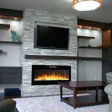 wall mounted fireplace heater photo of recessed pebble electric flat panel harrison linear h