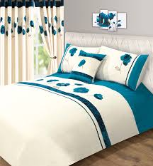 teal blue velvet rose fl amelia super king size bed duvet quilt cover bedding set co uk kitchen home
