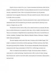 tourism in punjab research paper similar essays
