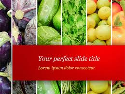 Free Food Powerpoint Templates Colorful Rainbow Food Free Presentation Template For
