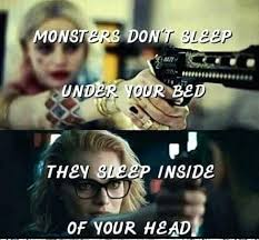 Harley Quinn Quotes New Harley Quinn Spruche Monsters Dont Sleeps Harley Quinn Quote Sad