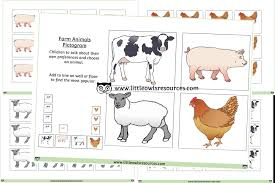 Animal Activity Chart Free Farm Animal Pictogram Printable Early Years Ey Eyfs