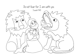 Small Picture Free Bible Coloring Page Daniel and the Loins