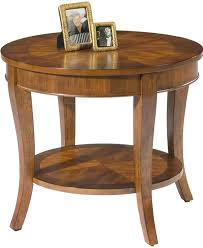 round end table with shelf by liberty furniture wolf and