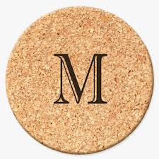Custom cork coasters Housewarming Monogram Online Custom Gifts Personalized Initial Round Cork Coasters Shop Now