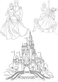 Petits Coloriages Cendrillon Chateau Prince Manege Disney Coloriage Chateau Disney L
