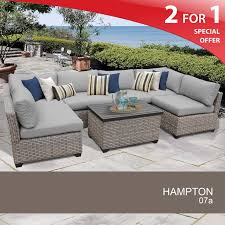Remarkable Gray Wicker Patio Furniture and Amalfi 4 Piece Rattan