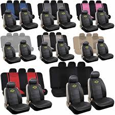 synthetic leather chevy sideless ampamp split bench seat covers throughout 2008 chevy impala seat covers