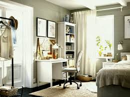 ikea home office furniture. A Corner In The Bedroom With White Desk And High Bookcasepleted Home Office Furniture Ideas Ikea