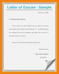 8 Examples Of Excuse Letters For Absent In School Pennart