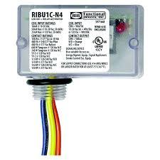 ribuc rib relays enclosed relay nema4 4x 10amp spdt 10 30vac dc 120vac