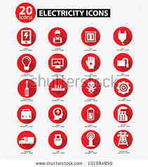 electrical fuse stock images royalty images vectors electricity icon collection red version vector