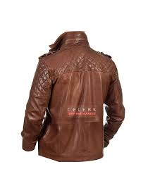 men s memphis brown biker leather jacket