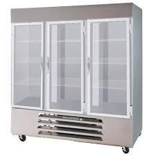 beverage air hbr72hc 1 g 72 cuft horizon bottom mount glass door reach in cooler