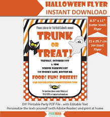 Editable Flyer Template Trunk Or Treat Flyer Template Editable Flyer For Halloween