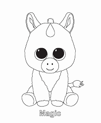 Beanie Boo Coloring Pages Ty Art Gallery Kooky Geraldabreuinfo