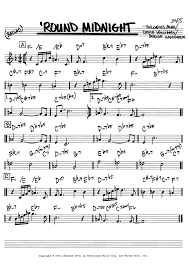 Round Midnight Chart Sheet Music Digital Files To Print Licensed Real Book