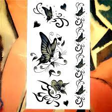 Nu Taty Zelený Motýl Dočasné Tetování Na Tělo Umění Rameno Flash