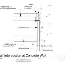exterior curtain wall floor intersection. 09 21 16.23.118 shaft wall intersection detail exterior curtain floor 9