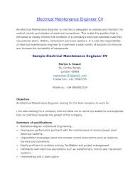 Maintenance Engineer Sample Resume 5 Electrical Resume Electrical