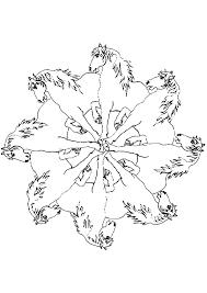Kleurennu Paarden Mandala Kleurplaten