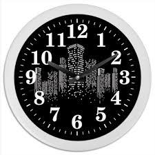"""Часы круглые из пластика """"Огни ночного города."""" #2701209 от ..."""