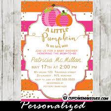 Pumpkin Invitations Template Pink And Orange Baby Shower Invitations Magnificent Pink And Orange