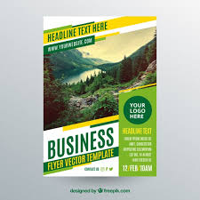 Sample Flyers For Landscaping Business Business Flyer Template With Photo Of Landscape Vector