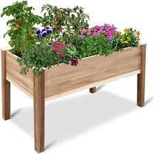 cedar raised garden bed jum4930