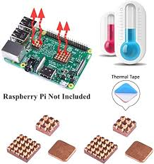 GeeekPi Raspberry Pi Heatsink Kit, Copper Heat Sink Cooling ...