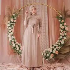 Memilih trend model baju kondangan terbaru. Gaun Pesta Size M L Dan Xl Fidella Gaun Muslimah Remaja Gamis Cantik Anggun Baju Kondangan Shopee Indonesia