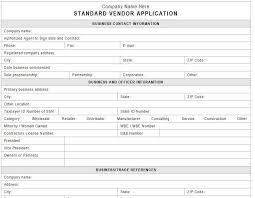 Vendor Application Template Vendors Templates Event Planning