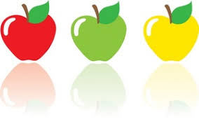green and red apples clipart. apples clipart image: 3 - red apple, green apple and yellow i