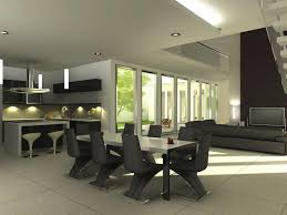 modern dining room decor pictures. simple dining room decorating ideas offer inviting and warm appearance: modern white ceiling black chair minimalist kitchen decor pictures