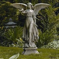 angel garden. classic angel garden statue wayfair