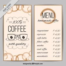 Coffee Shop Menu Template Free Magdalene Project Org