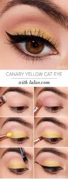 eyeshadow tutorials for beginners canary yellow eye makeup tutorial step by step tutorial guides dark skin