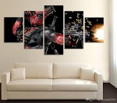 Modern Art Paintings For Living Room 2017 Modern Hd Printed Deadpool Mask Gun Home Decor For Living