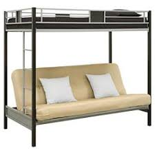 metal bunk bed futon. Silver Screen Twin Over Futon Metal Bunk Bed - Silver/Black DHP A